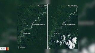 Satellite Spots Disappearance Of Massive Waterfall