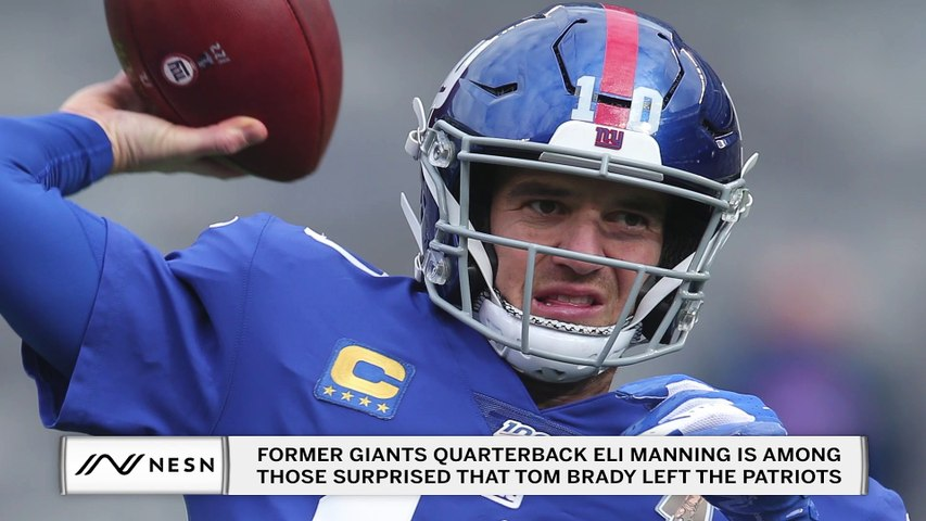 Eli Manning is Surprised Tom Brady Left the Patriots