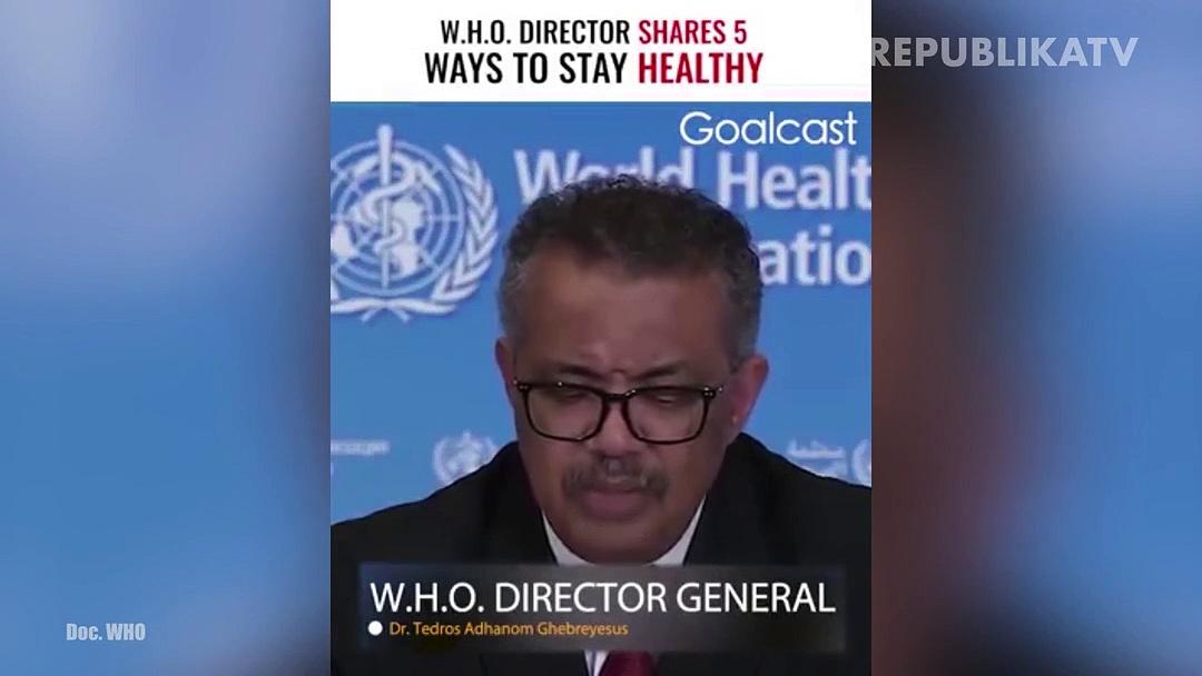 Direktur Jenderal World Health Organization (WHO), Tedros Adhanom Ghebreyesus