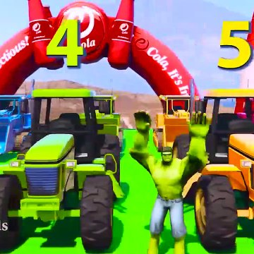 LEARN COLORS for Children W Spiderman and Superheroes Cycles Racing w Street Vehicles for Kids Ep 61