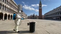 Public areas disinfected in Venice
