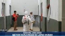 Lapas Banceuy Bandung Disemprot Disinfektan