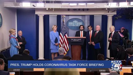 Us President  Donald Trump holds coronavirus task force briefing