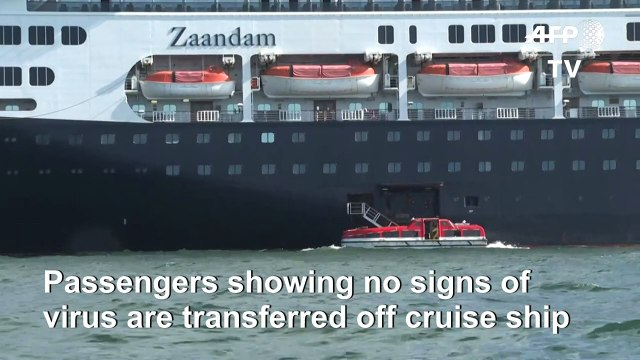 Coronavirus: Stranded cruise passengers transfer to another vessel in Panama