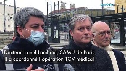 Coronavirus : un TGV médicalisé évacue 24 malades à Nancy