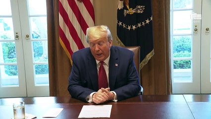 us President donald Trump Participates in a Meeting with Supply Chain Distributors