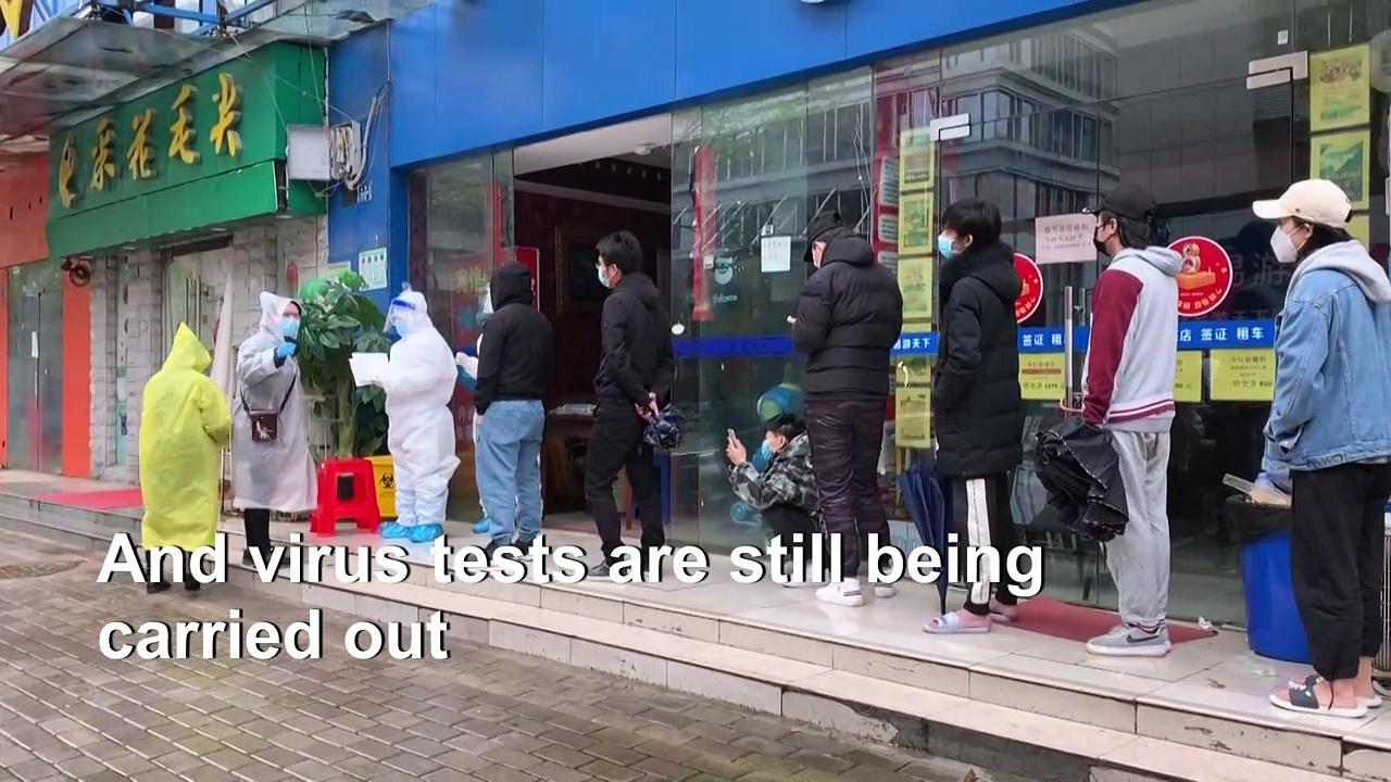 Wuhan residents get tested for coronavirus