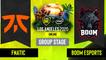 Dota2 - Fnatic vs. BOOM Esports - Game 2 - Group Stage - SEA - ESL One Los Angeles