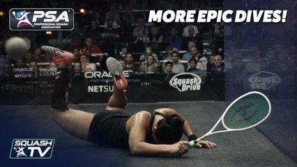 Squash: MORE EPIC DIVES from the PSA World Tour!