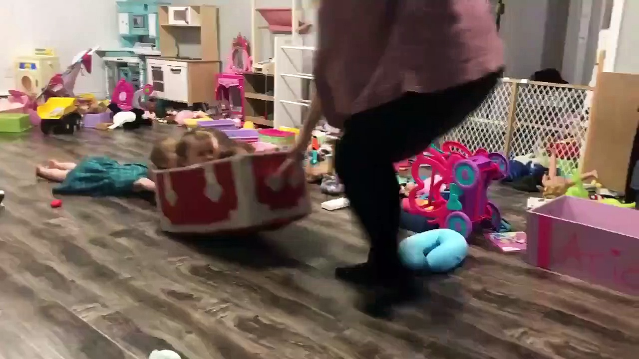 Mom Improvises Games for Her Kids While Quarantined in Home. https://bit.ly/2VWbGqn