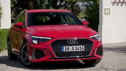 The new Audi A3 Sportback Exterior Design in Tango red