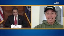 Cuomo brothers joke at New York governor's daily briefing
