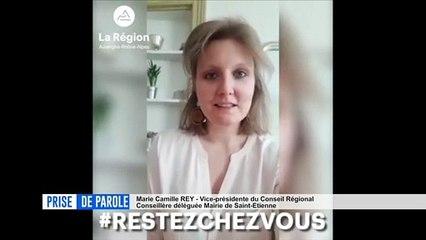 Prise de parole du 27 mars - Clip #Restezchezvous de la région Auvergne-Rhône-Alpes.
