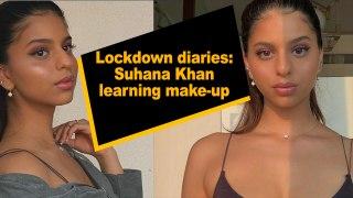 Lockdown diaries: Suhana Khan learning make-up