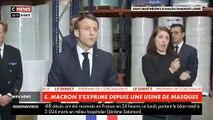 Coronavirus - Revoir l'intégralité de l'intervention du Président Emmanuel Macron ce midi depuis une usine de masques près d'Angers - VIDEO