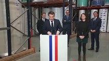 """Macron : """"D'ici 3 à 4 semaines, nous aurons la capacité de produire un million  de masques par jour"""""""
