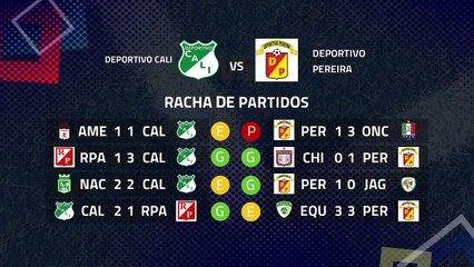 Previa partido entre Deportivo Cali y Deportivo Pereira Jornada 8 Apertura Colombia