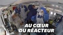 À l'intérieur d'un A330 qui transfère les malades du covid-19 en France