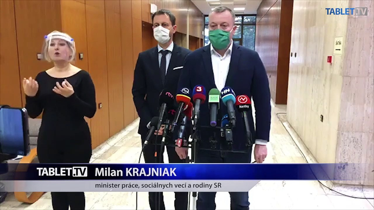 ZÁZNAM: Brífing ministrov M. Krajniaka, E. Hegera a M. Krajčího