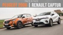Face à face Peugeot 2008 - Renault Captur (2020)