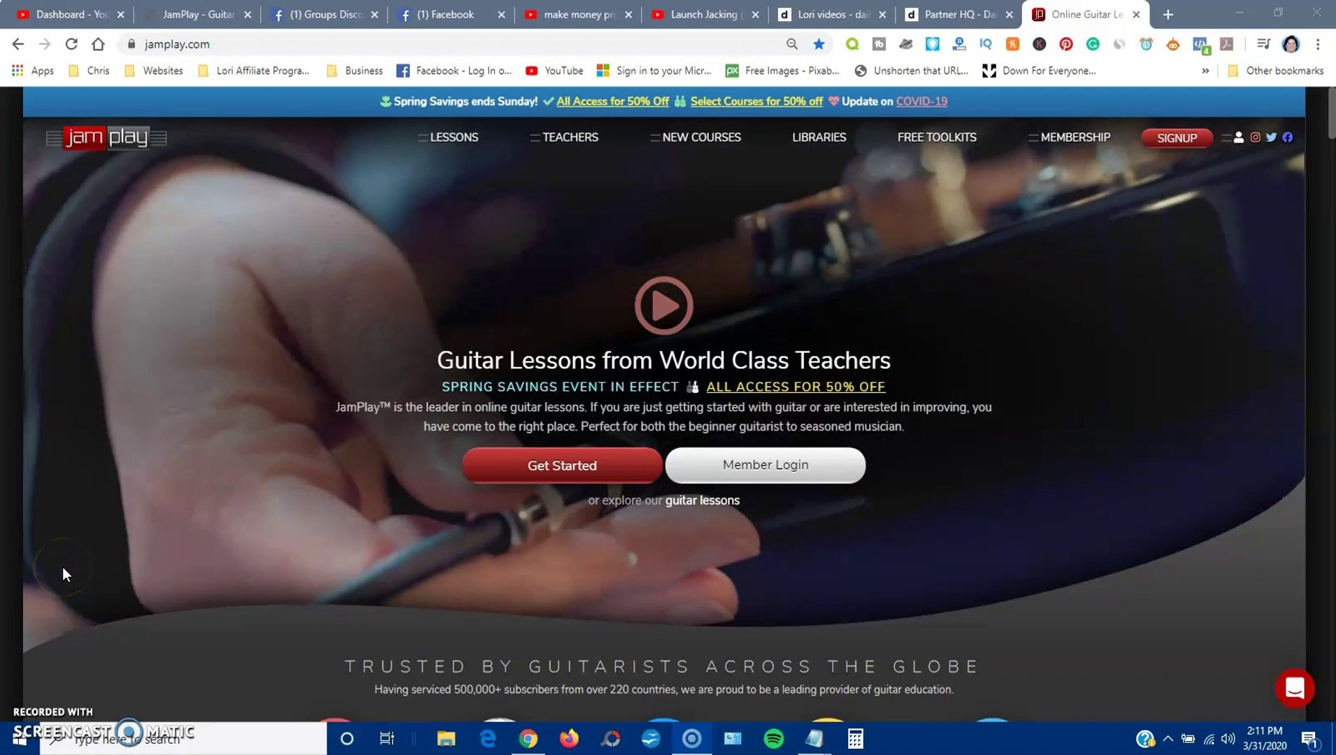 Jamplay Review - Learn How to Play Guitar Online