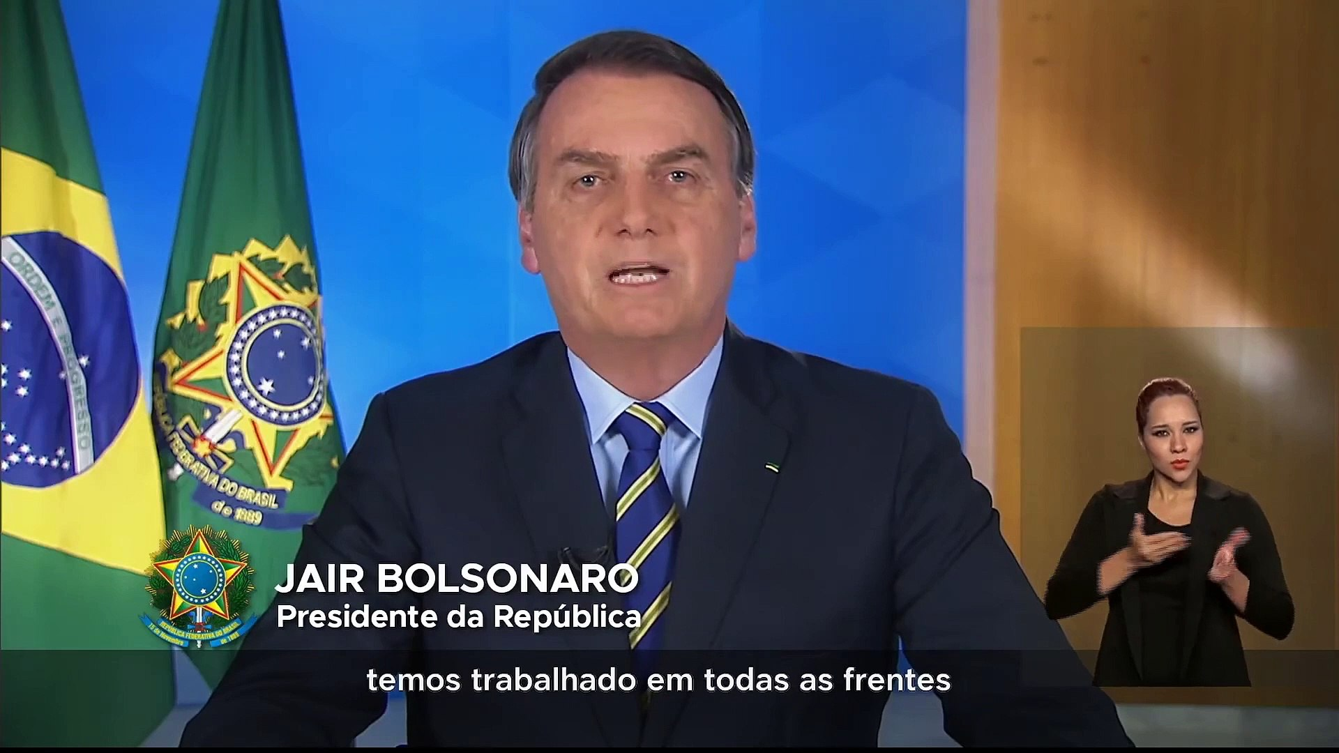 Pronunciamento Oficial do Presidente da República, Jair Bolsonaro 31/03/20