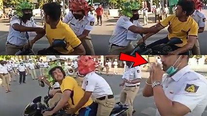 सड़कों पर निकले लोगों को इस मज़ेदार अंदाज़ मे पकड़ रही है बेंगलुरु पुलिस