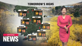 [Weather] Sunny, dry weather continues to dominate