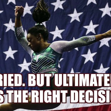 """Simone Biles: postponing Olympics was """"the right decision"""""""
