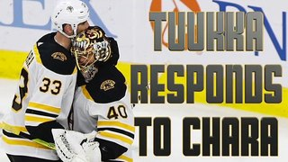 Tuukka Rask Responds To Zdeno Chara's Farting Remarks