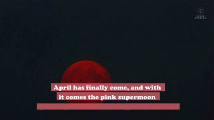 A rare pink supermoon will be visible in the sky in April