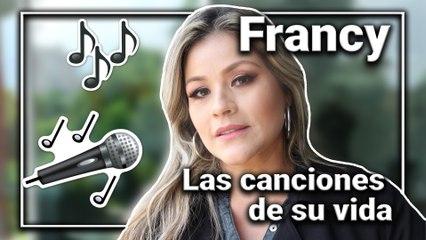 Francy canta las canciones que han marcado su carrera y su vida personal