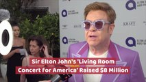 Sir Elton John's Living Room Concert Was A Hit