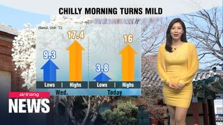 [Weather] Chilly start, mild afternoon
