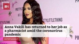 Anna Vakili Returns To Pharmacy