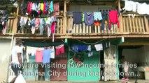 Coronavirus: Volunteers distribute food in Panama