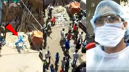 कोरोना वायरस की जांच के लिए गई डॉक्टरों की टीम पर पथराव