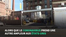 Coronavirus: à New York, un chariot élévateur et un camion frigorifié pour transporter les morts