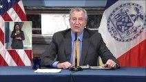 New York City Mayor Bill de Blasio gives coronavirus update
