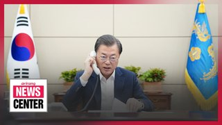 President Moon in phone calls with leaders of 15 countries on COVID-19 reponse