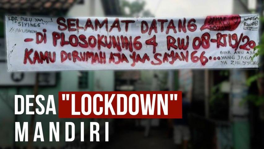 """""""Lockdown"""" Mandiri, Bagaimana Aktivitas dan Geliat Ekonomi Warga Desa?"""