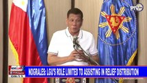 Nograles: LGU's role limited to assisting in relief distribution