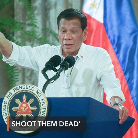 'Shoot them dead': Duterte orders troops to kill quarantine violators
