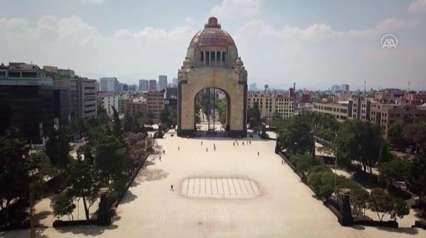 Pemandangan Udara Kota Meksiko di Tengah Wabah Covid-19