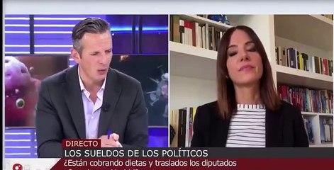 Vean cómo el ridículo Antonio Miguel Carmona intenta cortar a Joaquín Prat por criticar las dietas cobradas por los diputados