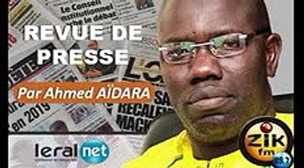 ZikFM - Revue de presse Ahmed Aidara du Vendredi 03 Avril 2020