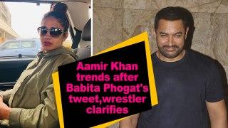 Aamir Khan trends after Babita Phogat's tweet, wrestler clarifies