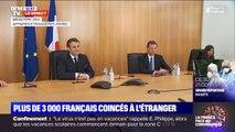 Les images d'Emmanuel Macron au centre de crise du quai d'Orsay, qui organise le rapatriement des Français bloqués à l'étranger