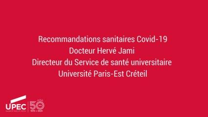 Covid19 - Recommandations Sanitaires du Service Universitaire de Santé
