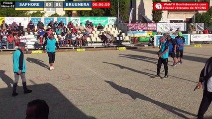 National à pétanque de Nyons vétérans - Finale SAPHORE vs BRUGNERA - 02 octobre 2019